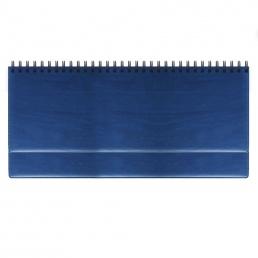 Недатированный планинг REINA 5496 (794U) 298х140 мм, без календаря, синий, посеребренный срез