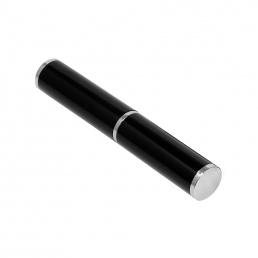 Коробка подарочная, футляр - тубус, алюминиевый, черный, глянцевый, для 1 ручки