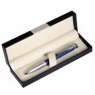 Шариковая ручка Megapolis, синяя/серебро, в упаковке