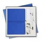 Подарочный набор Portobello/Summer Time синий-3 (Ежедневник недат А5, Ручка, Power Bank)