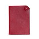 Чехол для паспорта PURE 140*90 мм., застежка на кнопке, натуральная кожа (гладкая), красный