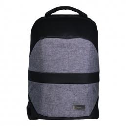 Спорт рюкзак Leardo с USB разъемом, 445х330х180 мм, серый/серый