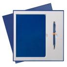 Подарочный набор Portobello/River Side синий (Ежедневник недат А5, Ручка) светл. ложемент