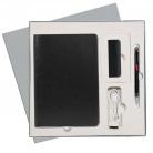 Подарочный набор Portobello/River Side-3 черный-красный (Ежедневник недат А5, Ручка, Power Bank)