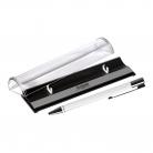 Шариковая ручка Regatta, белая, в упаковке с логотипом