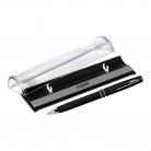 Шариковая ручка Consul, черная, в упаковке c логотипом