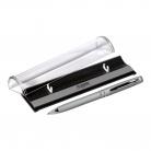 Шариковая ручка Consul, серебро, в упаковке с логотипом