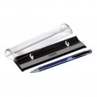 Шариковая ручка Bello, синяя, в упаковке с логотипом