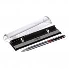 Шариковая ручка Bello, серая/красная, в упаковке с логотипом