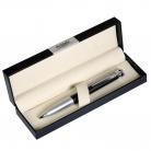Шариковая ручка Megapolis, черная/серебро, в коробке с логотипом