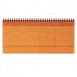 Недатированный планинг VELVET 298x140 мм, без календаря, оранжевый