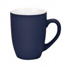 Керамическая кружка, Alba 350 ml, soft-touch синяя