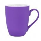 Керамическая кружка, Alba 350 ml, soft-touch, фиолетовая