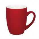 Керамическая кружка Alba 350 ml, soft-touch, красная