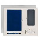 Подарочный набор Portobello/ Winner City синий (Ежедневник недат А5, Ручка, Power Bank)