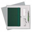 Подарочный набор Portobello/BtoBook Summer time зеленый (Ежедневник недат А5, Ручка, Power Bank)