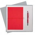 Подарочный набор Portobello/Summer Time красный-2 (Ежедневник недат А5, Ручка)