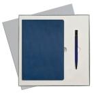 Подарочный набор Portobello/Rain синий-7 (Ежедневник недат А5, Ручка)