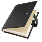 Ежедневник-портфолио Royal, черный, обложка soft touch, недатированный кремовый блок, подарочная коробка