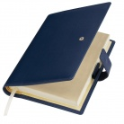 Ежедневник-портфолио Royal, синий, обложка soft touch, недатированный кремовый блок, подарочная коробка